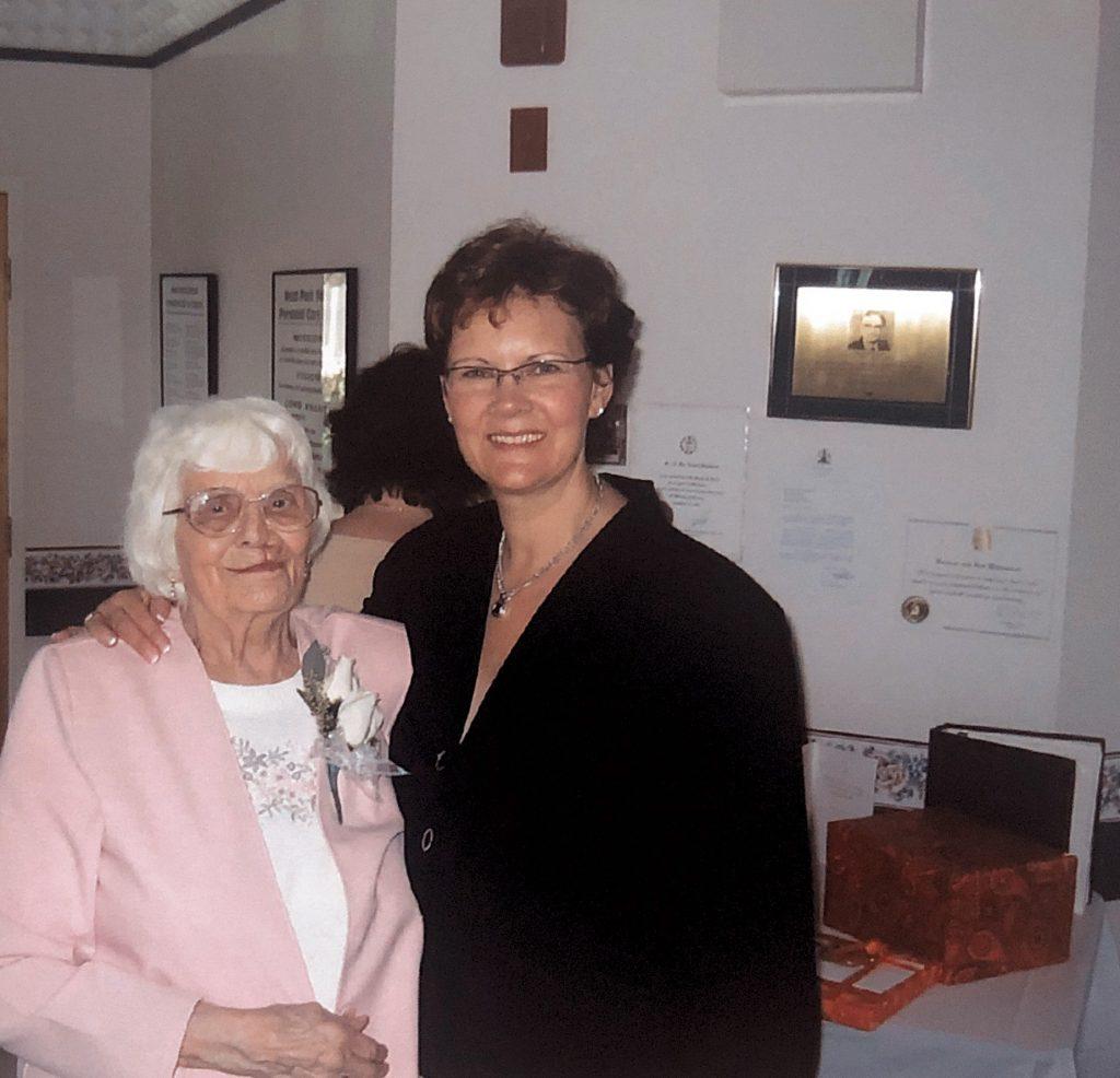 Eva Halmarson and Pam Danylchuk