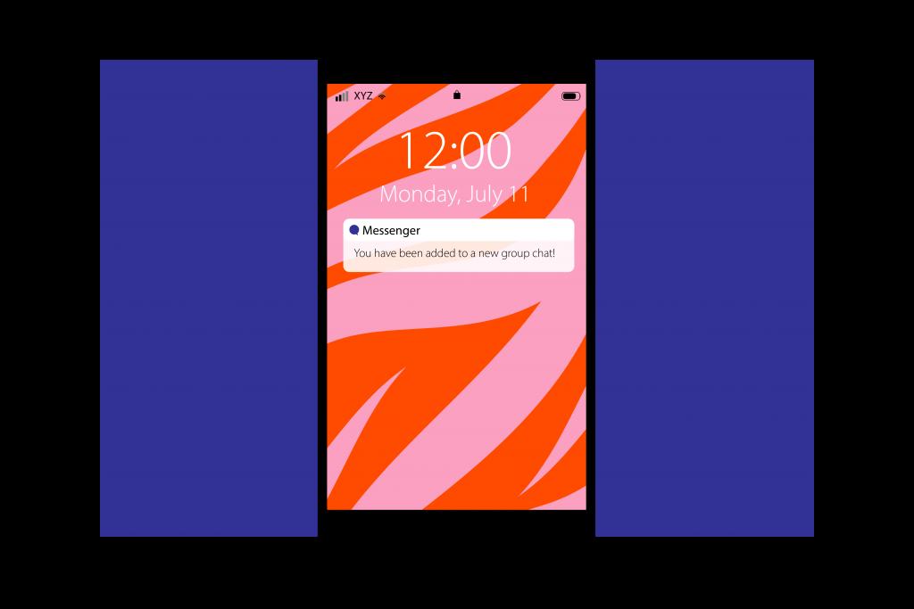 illustration of phone message
