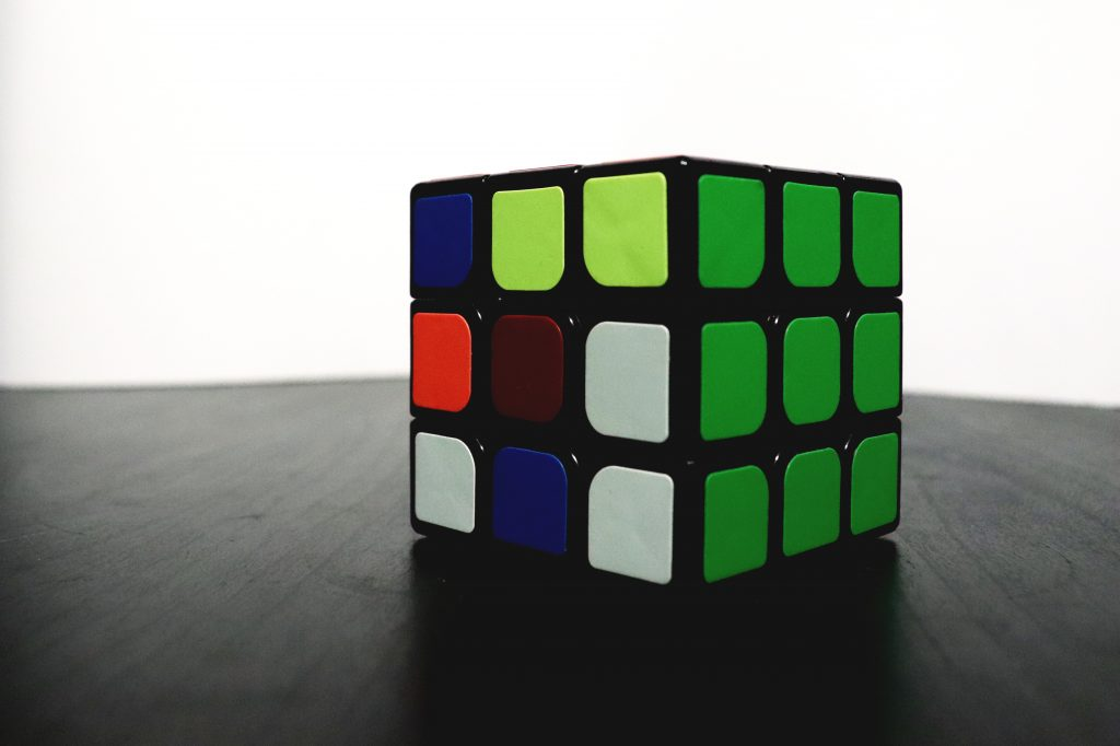 Rubix Cube with green side solved